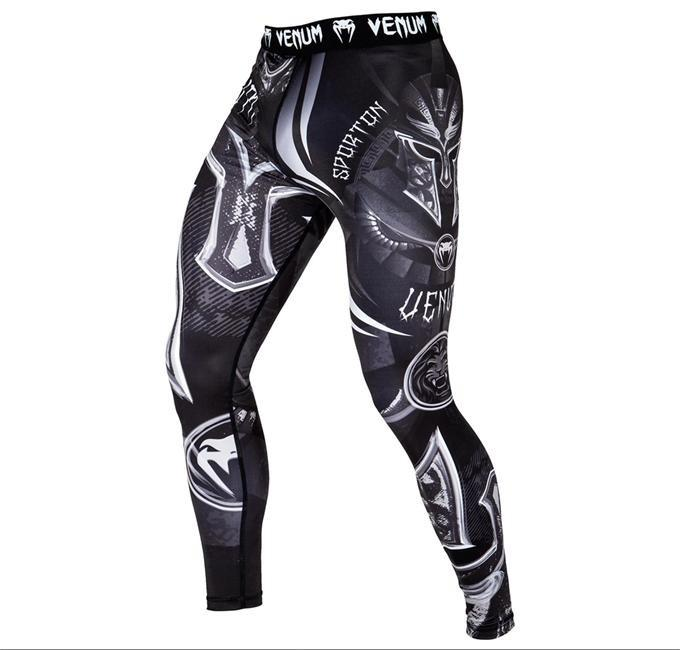 Venum Logos MMA Spats BJJ No-Gi Grappling Compression Tights Gym