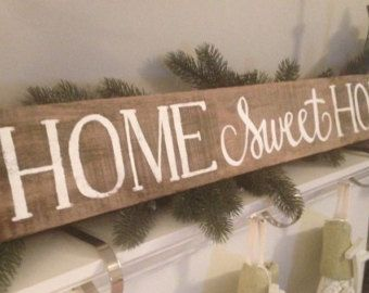 Wooden Home Signs Decor Wood Sign Home Sweet Home Arrow Distresseddandelionsignshop