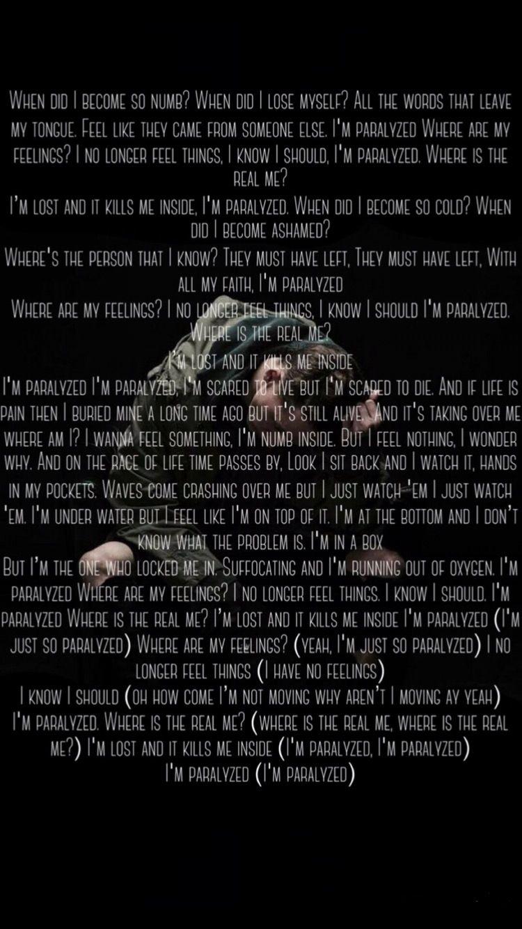 Paralyzed Nf Lyrics Nf Lyrics Nf Quotes Music Quotes Lyrics