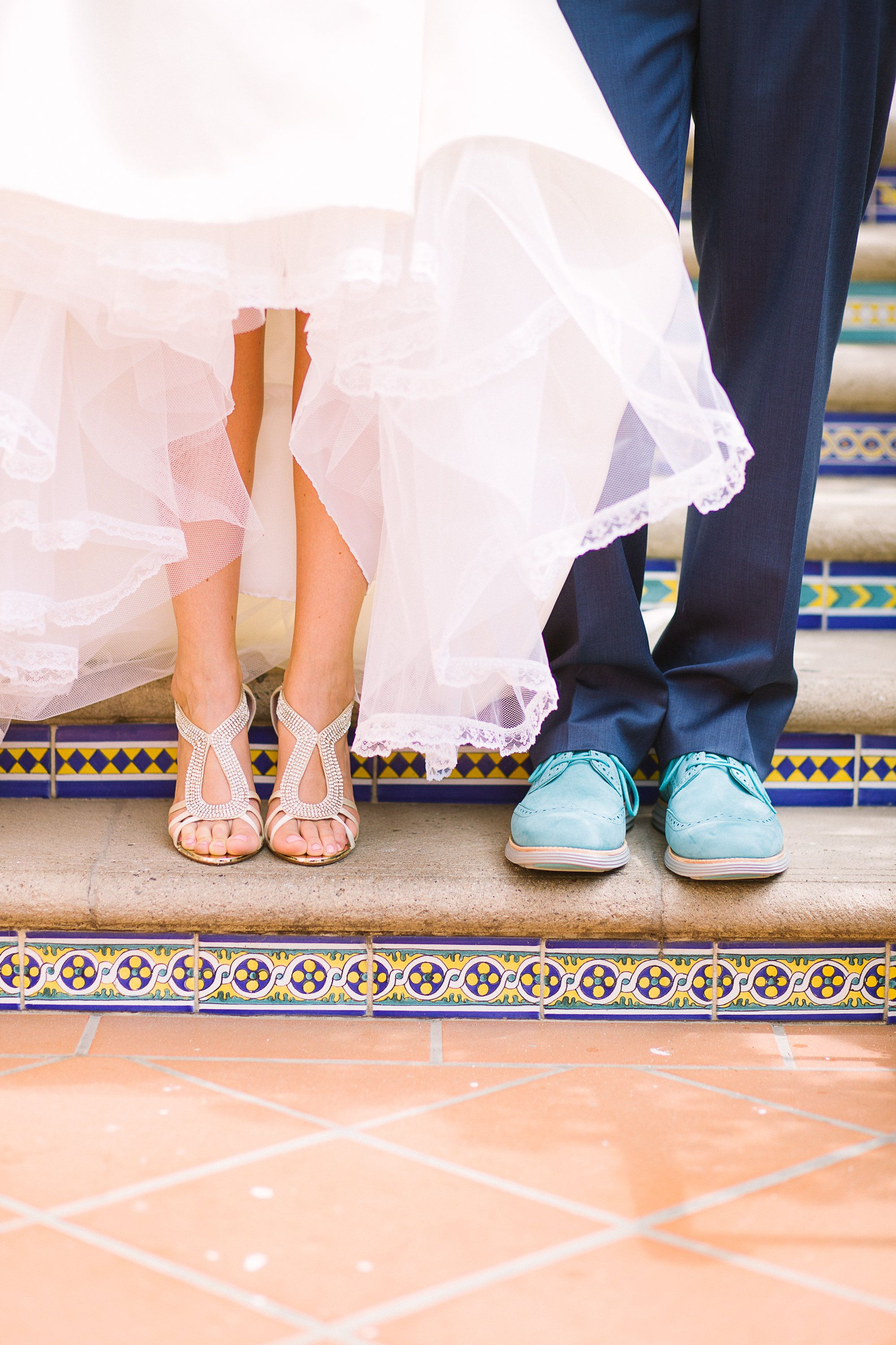 Great shoes all around! View the full wedding here: http://thedailywedding.com/2016/01/15/villa-coastal-wedding-lauren-zach/