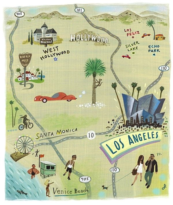 Were Moving To LA To Do Pinterest - Los angeles map wallpaper