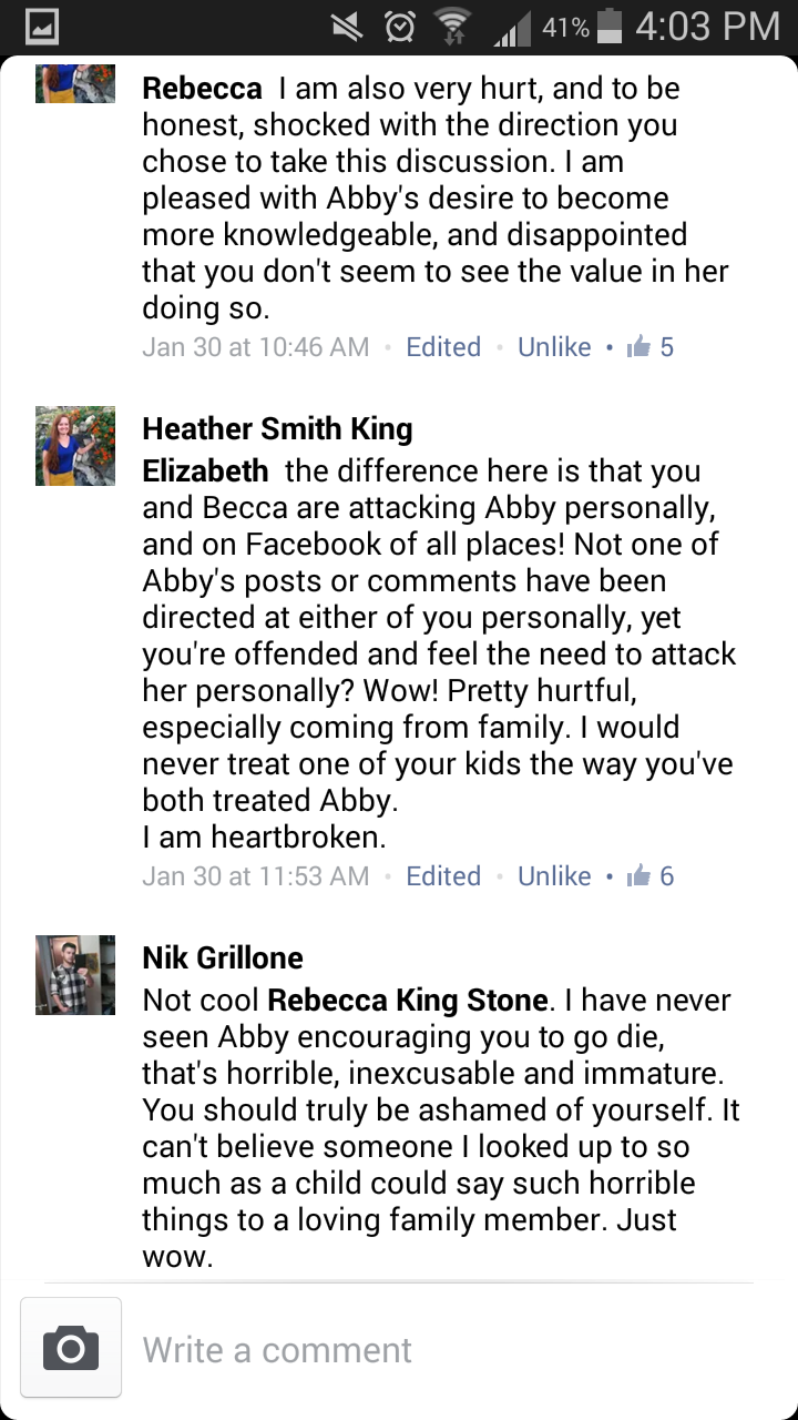 Abbyishness: The Name-Calling Cowardly Lions
