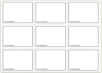 3x3 free printable flash cards template plus other sizes available