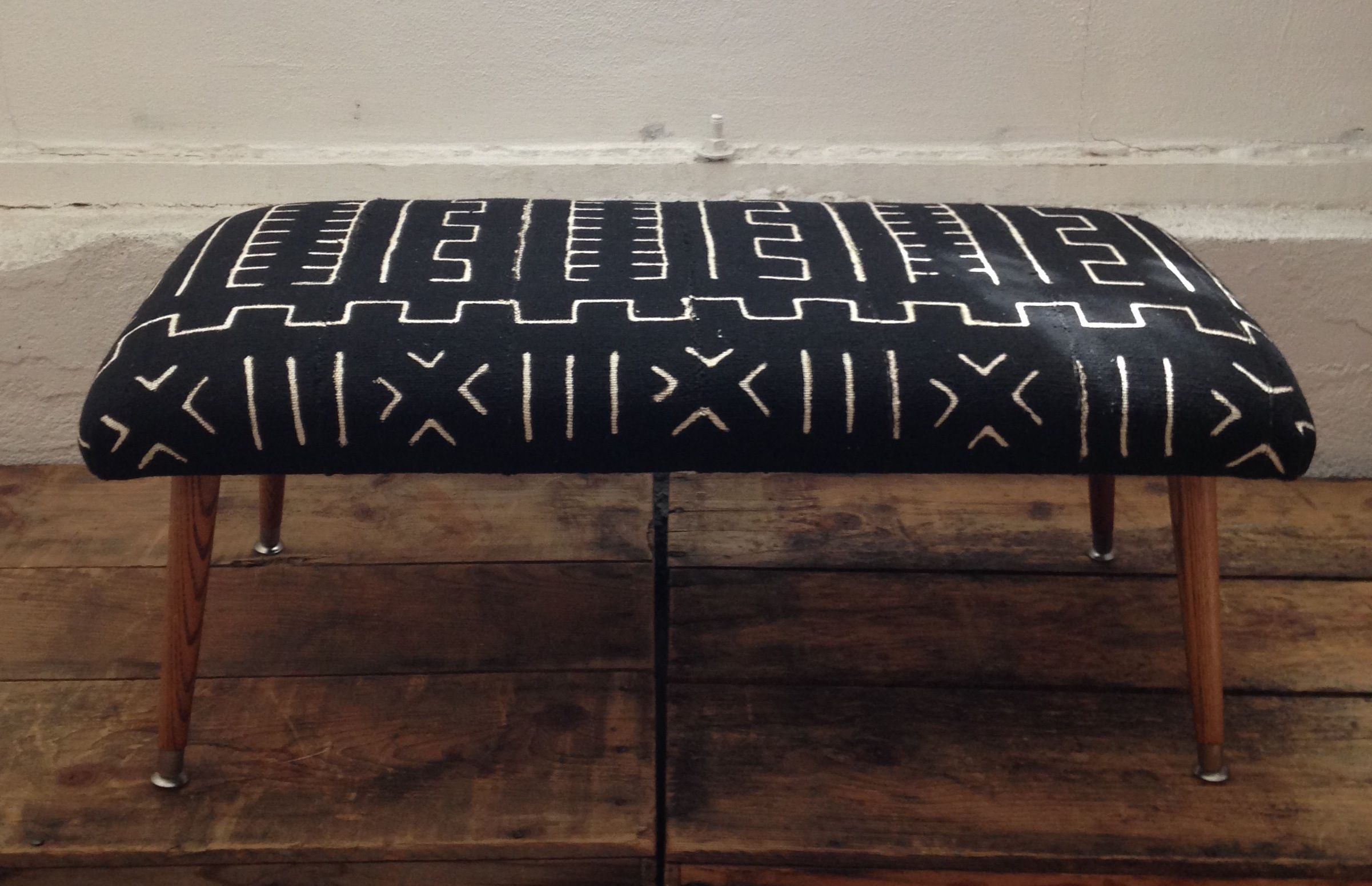 Our Signature Bench Upholstered In Your Choice Of Black And White