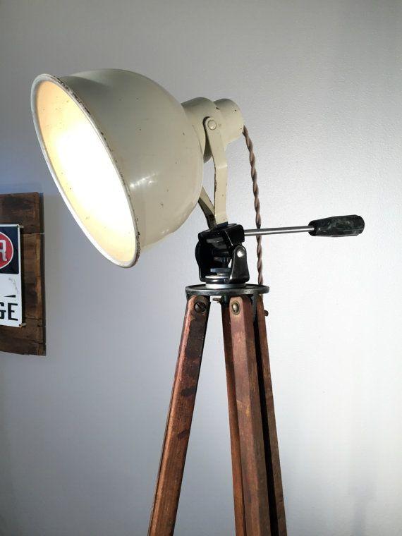 info for 1c79f 069d3 Industrial Lighting Wood Tripod Lamp by ModernArtifactDecor ...
