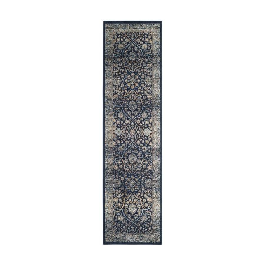 Shop Safavieh Persian Garden Vintage Blue Woven Runner (Common: 2-ft x 8-ft; Actual: 26-in x 96-in) at Lowes.com