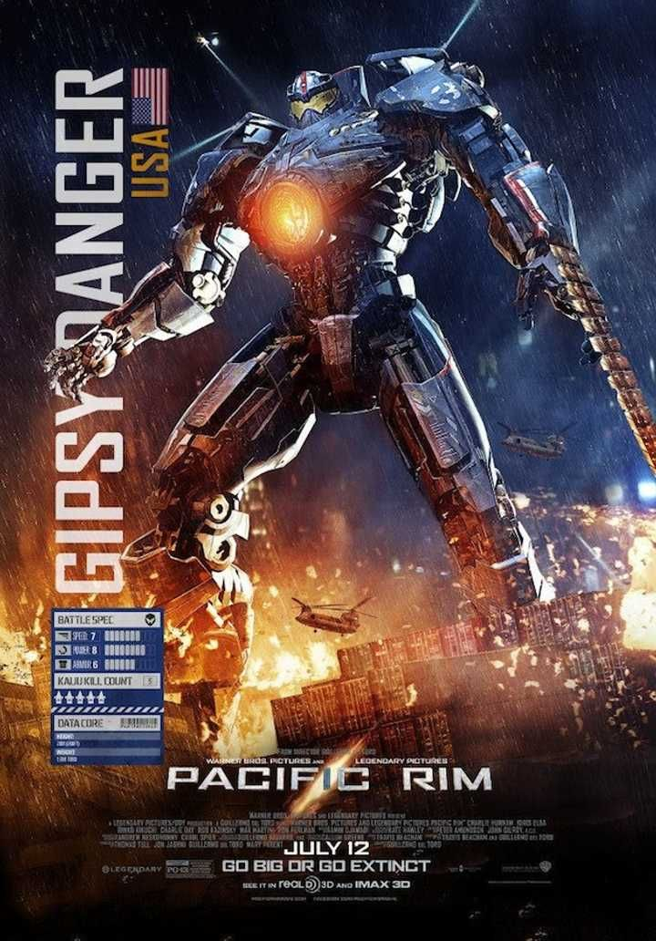 12 Minutes Behind The Scenes Of Pacific Rim And Two New Battle Posters Titanes Del Pacifico Pelicula Titanes Del Pacifico Pacific Rim
