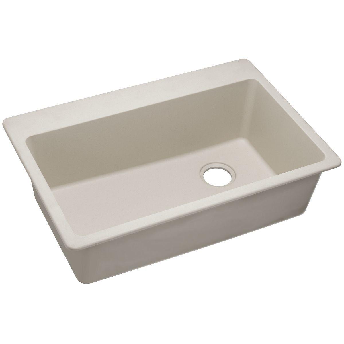 Quartz Classic 33 L X 22 W Drop In Kitchen Sink Sink Single