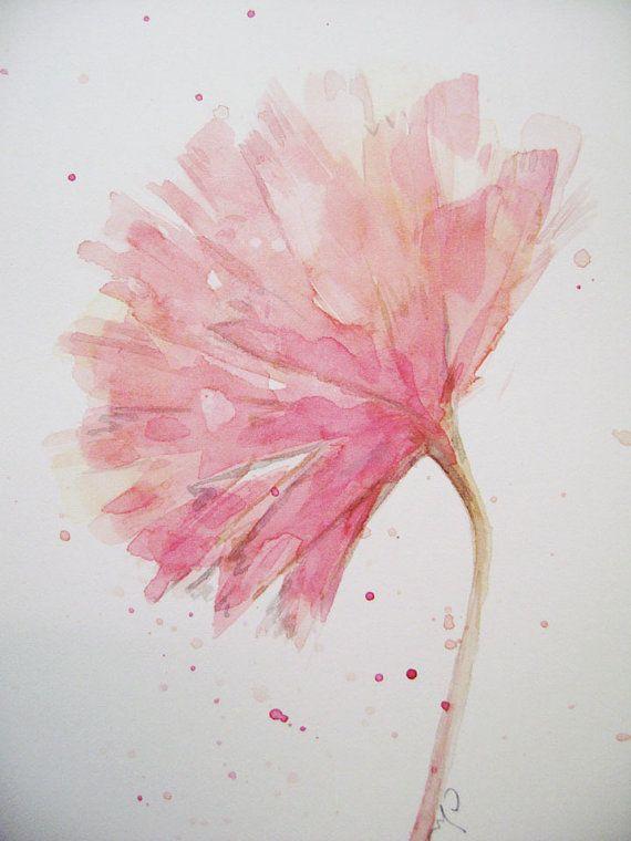 Flower Flower Painting Watercolor Pink Carnation Original Abstract Watercolor Painting Flower Painting Watercolor Flowers Pastel Watercolor