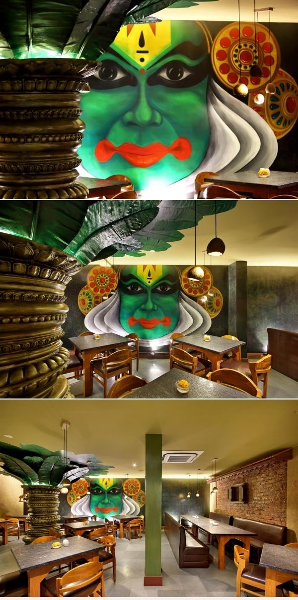 Wall Mural Is A Major Highlight In South Indian Restaurant Wall Murals Indian Theme Indian Home Decor