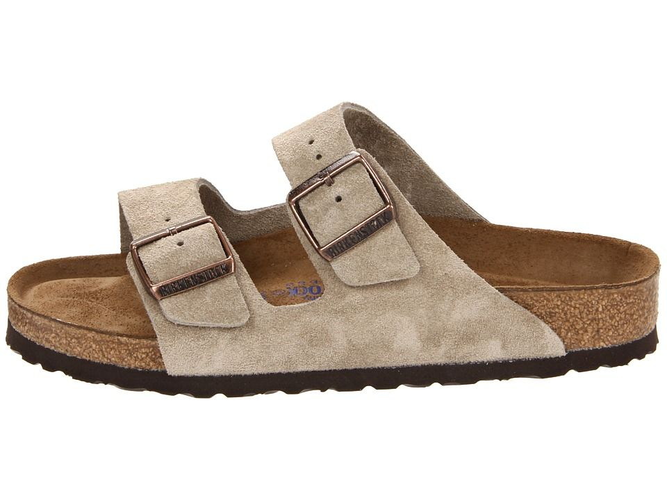 2657894f4d1960 Birkenstock Arizona Soft Footbed - Suede (Unisex) Sandals Taupe Suede