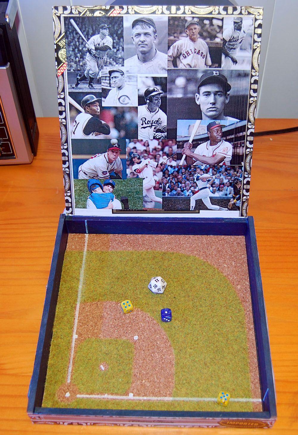 StratOMatic Cigar Box Stadium Sports games, Baseball