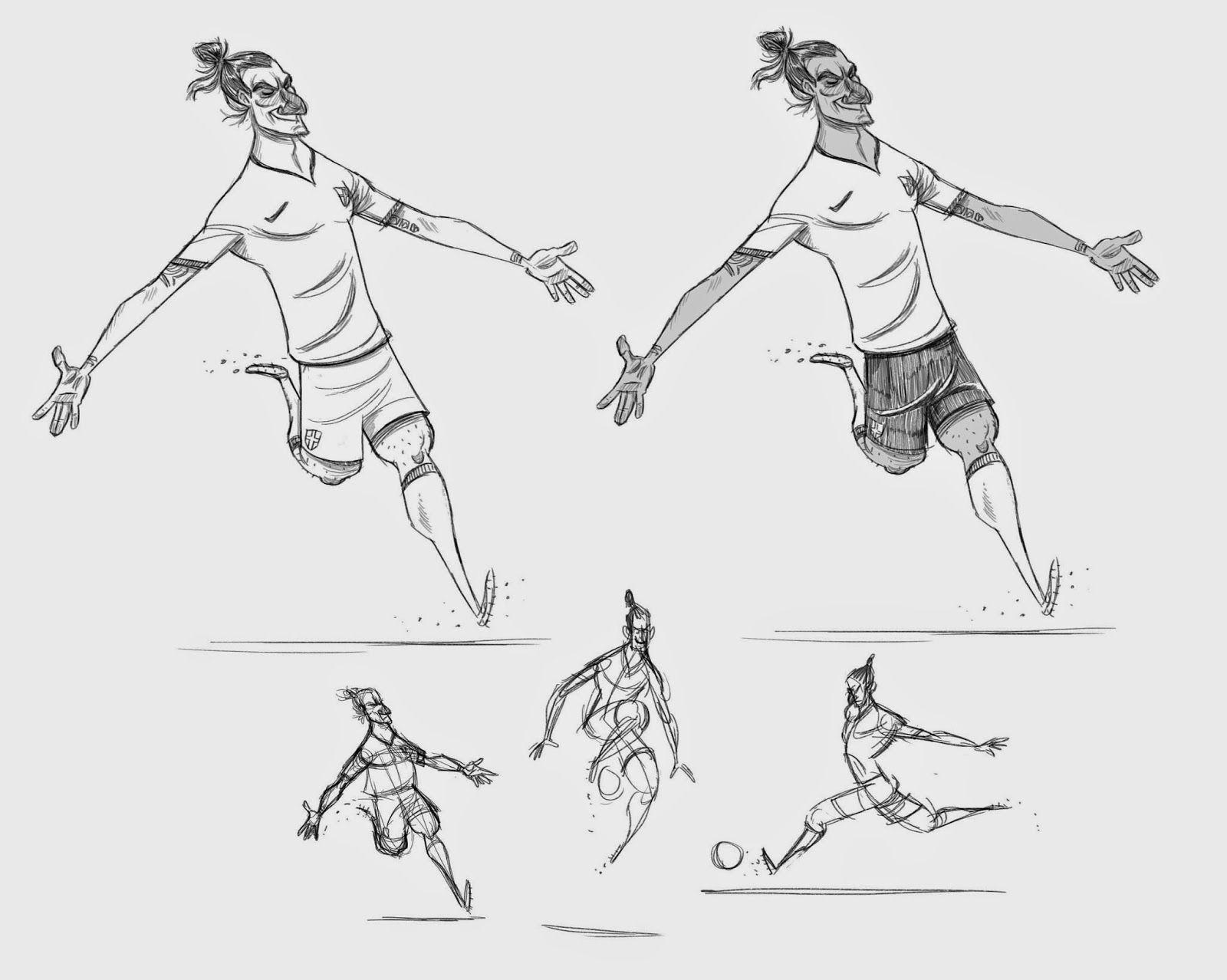 Gillianimation Nike The Last Game Soccer Poses Soccer Artwork Football Drawing