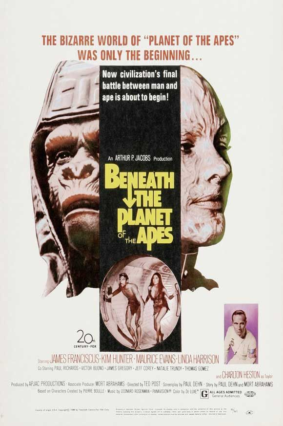 Beneath The Planet Of The Apes 27x40 Movie Poster 1970 Planet