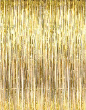 Gold Fringe Curtain Gold Wedding Decorations Photo Backdrop