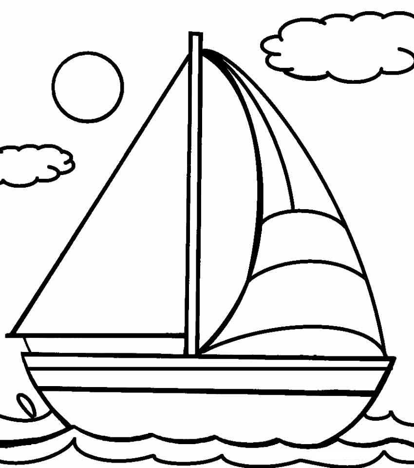 21 Printable Boat Coloring Pages Free Download Boat Drawing