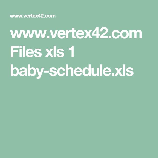 Files xls 1 babyschedule.xls Job