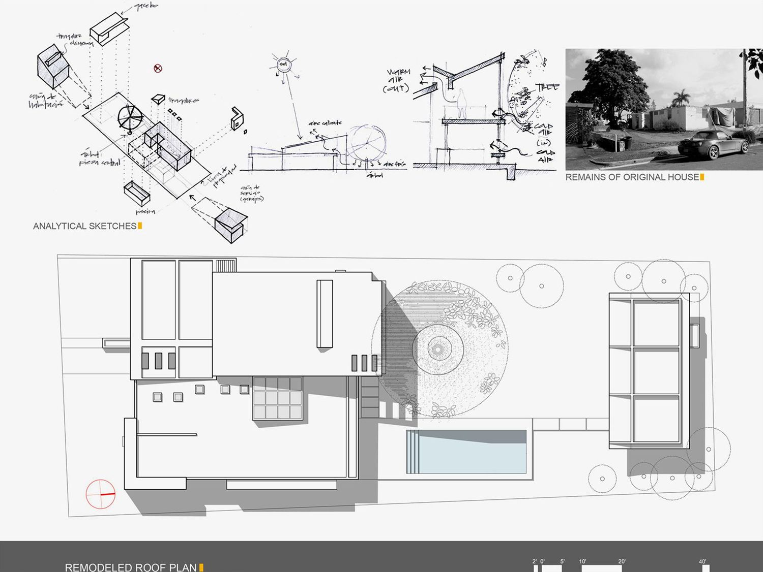 Alhambra house urbana roof plan architectural for Roof plan drawing