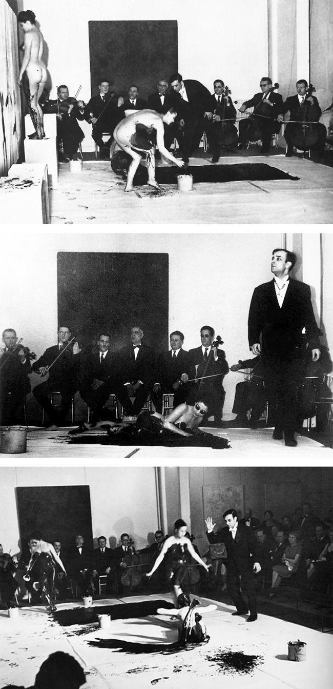 YVES KLEIN. Antropometrías. Galería Internacional de Arte Contemporáneo de París, 1960