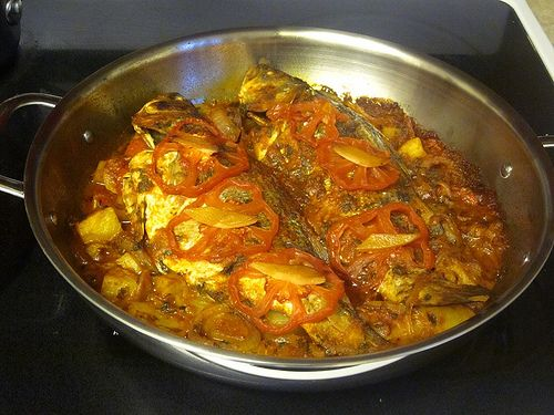 Algerian baked fish 64 sq ft kitchen arabic cooking algerian baked fish 64 sq ft kitchen forumfinder Image collections