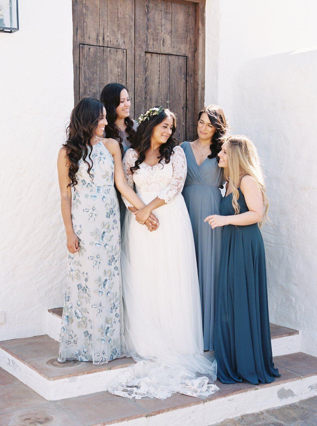 Simply stunning hues of blue jenny yoo collection bridesmaids