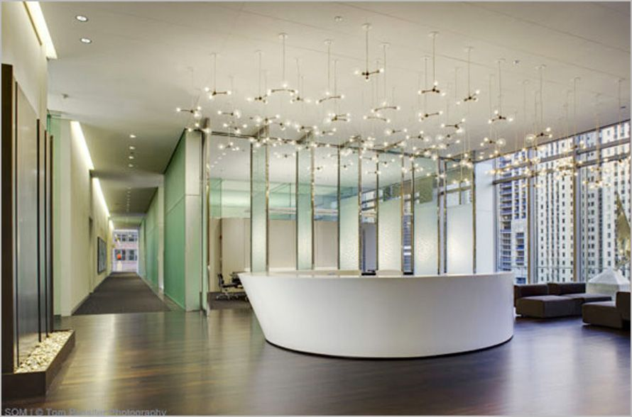 Elegance Reception Area Of Law Office Interior Design