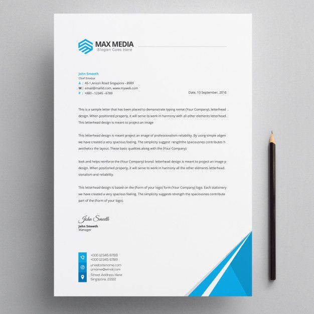 Letterhead Premium Psd #letterhead #template #design #corporate ...