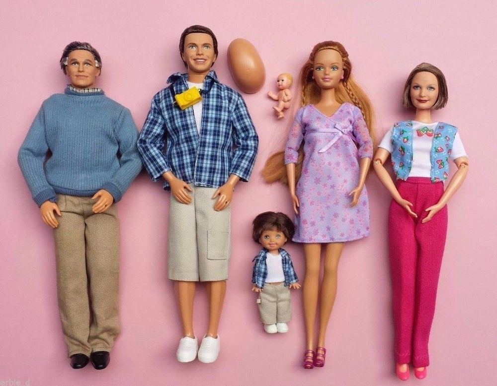 Pregnant Midge Barbie Doll Alan Ryan Grandpa Grandma Happy