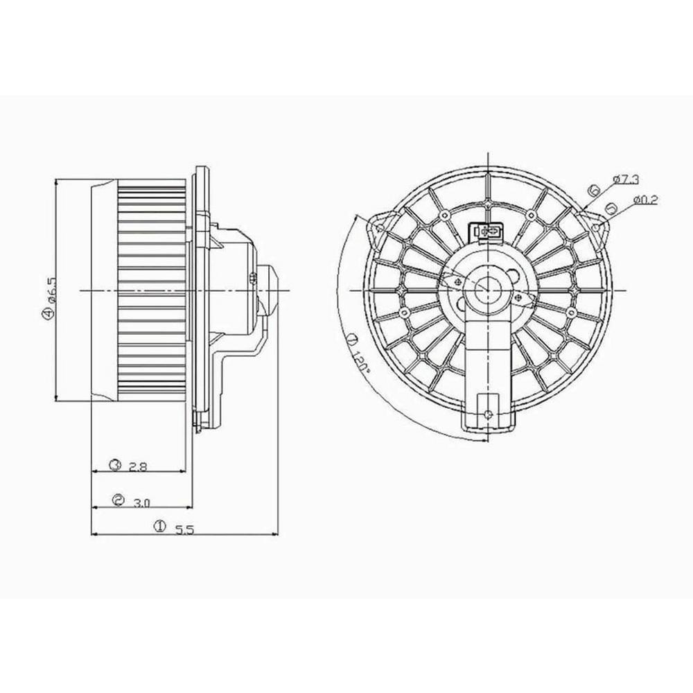 Global Parts Distributors HVAC Blower Motor-2311504 in
