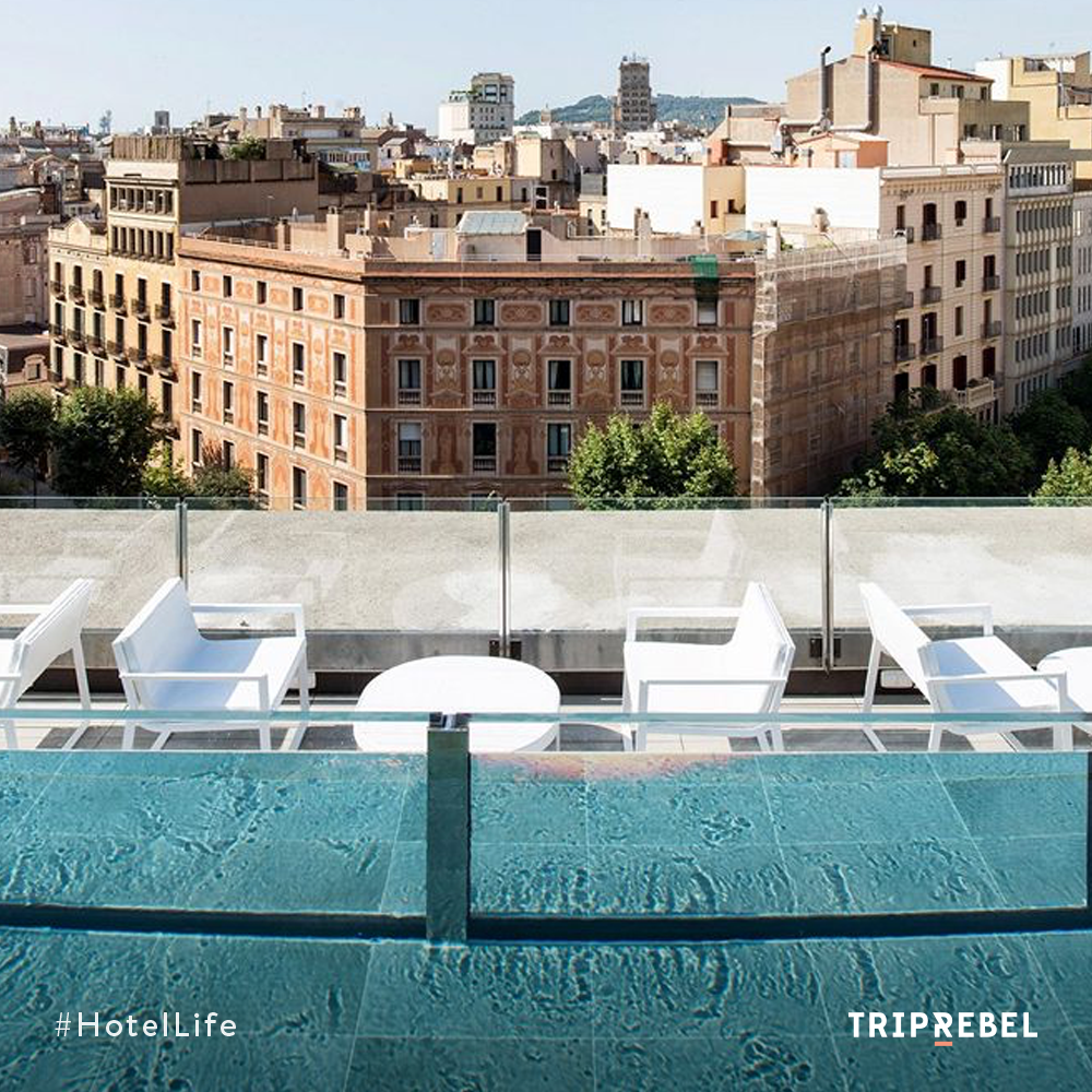 Beautiful views of one of Barcelona's poshest neighborhoods from Hotel Catalonia Eixample 1864. Book it now on www.TripRebel & get the best price! #KeepRebelling