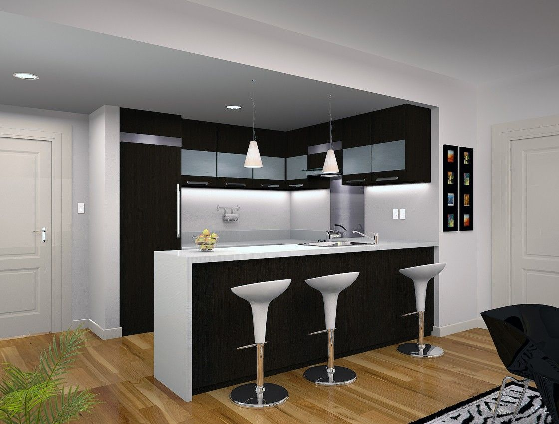 Captivating modern small kitchen design featuring cool recessed captivating modern small kitchen design featuring cool recessed ceiling lights fixtures decor and double frosted glass aloadofball Choice Image