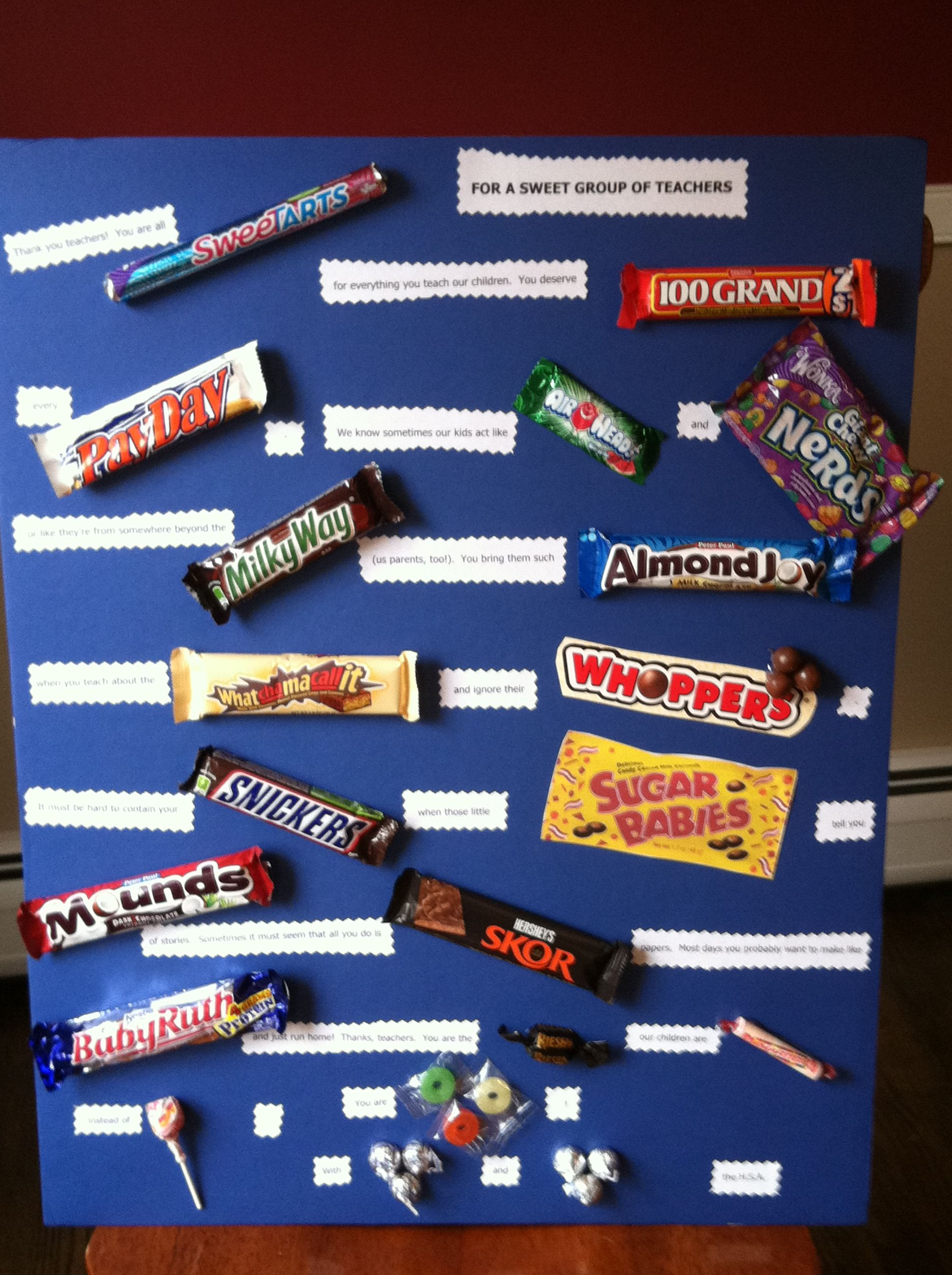 teacher appreciation poem and candy | Teacher appreciation ...