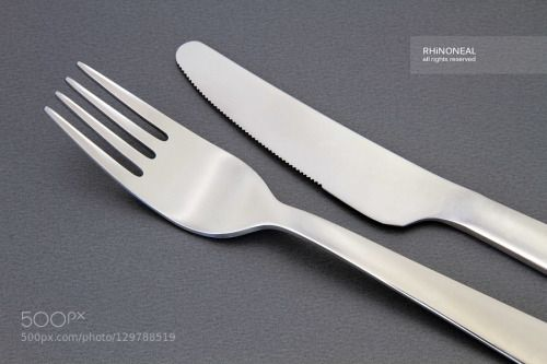 knife and fork on grey low res by RHiNONEAL  IFTTT 500px cutlery fork grey indoor knife neal neil rhino rhinoneal uk