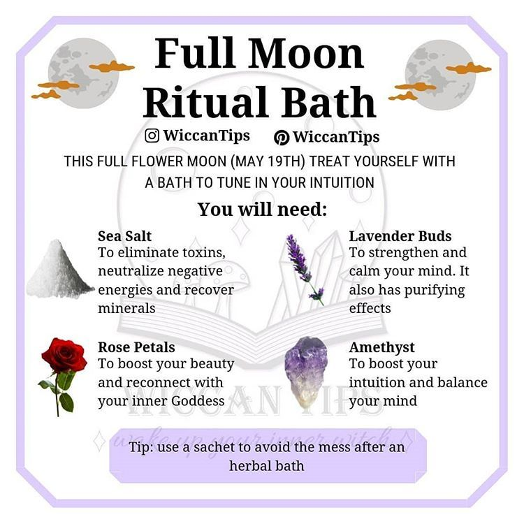 "ωιccαη ωιтcн on Instagram: ""Do you have plans for the full moon? Tomorrow I'll post a template of a to do list for the full moon in my stories� ��� This ritual bath is…"""