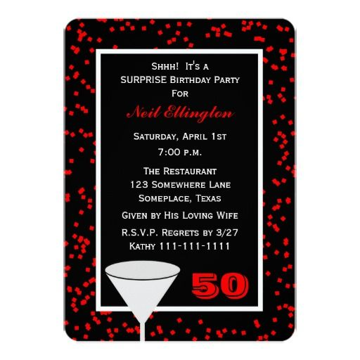 Free Surprise 50th Birthday Party Invitations Wording