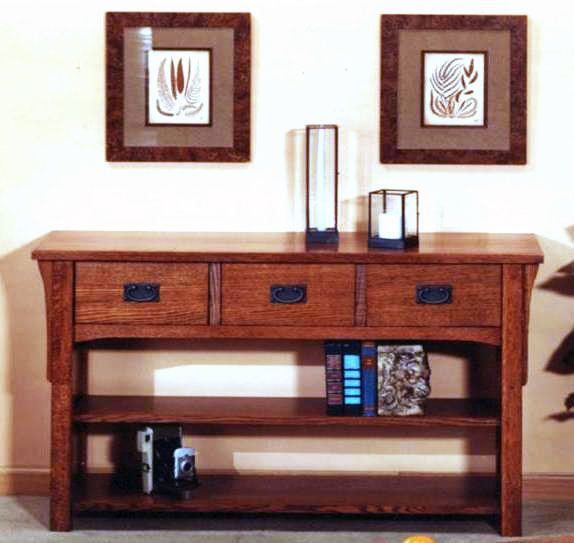 E Gallery Furniture   Mission Style 3 Drawer Sofa Console Table, $1,099.95  (http