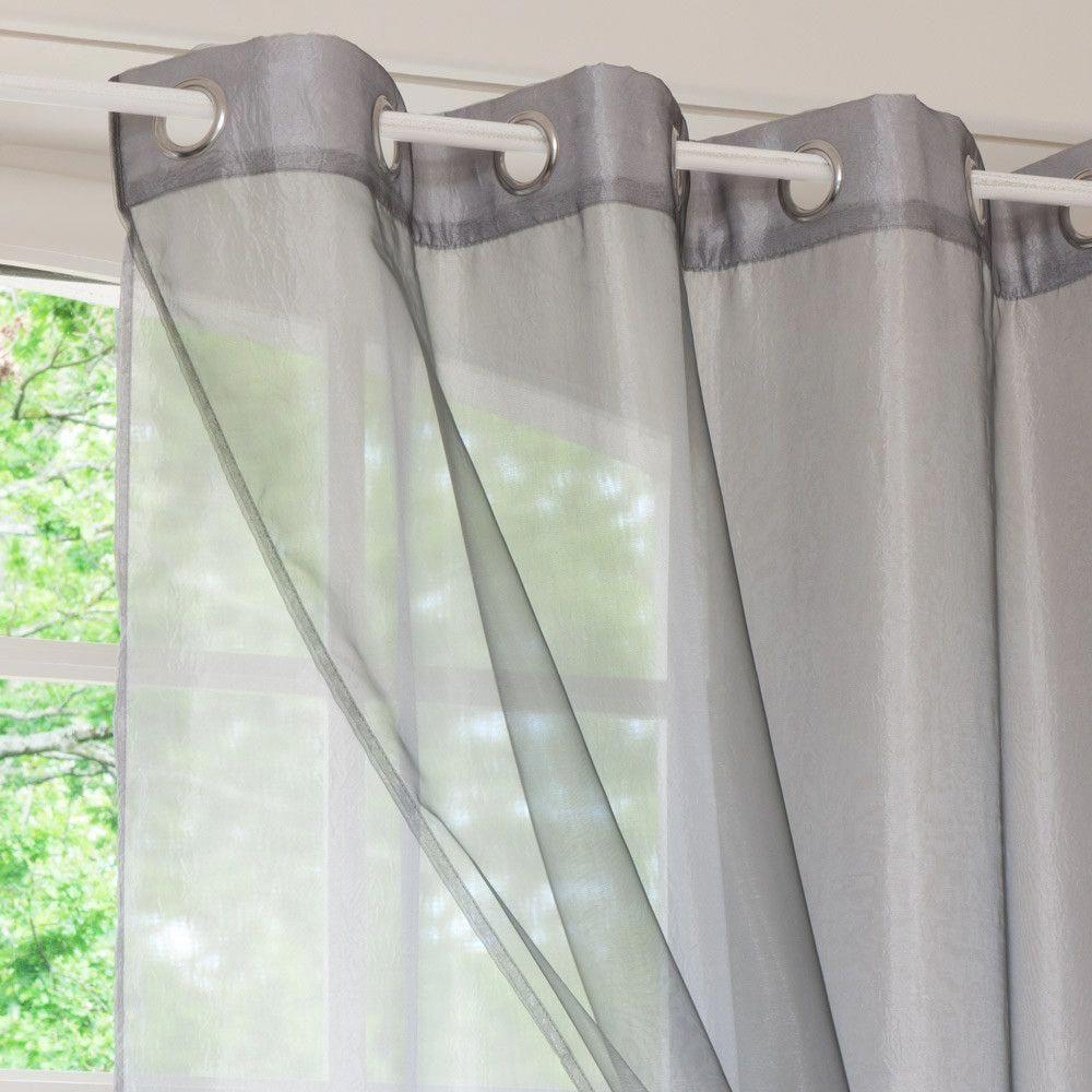 Doppelvorhang Mit Osen Grau 140 X 250 Cm Maisons Du Monde