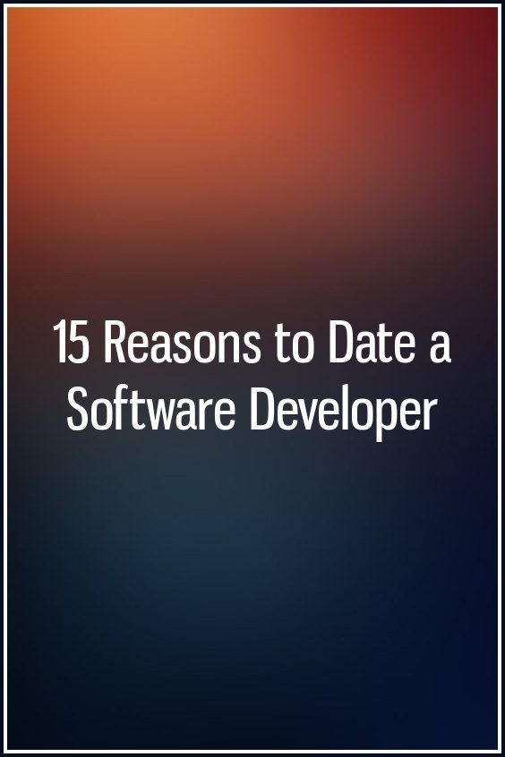 dating a software engineer