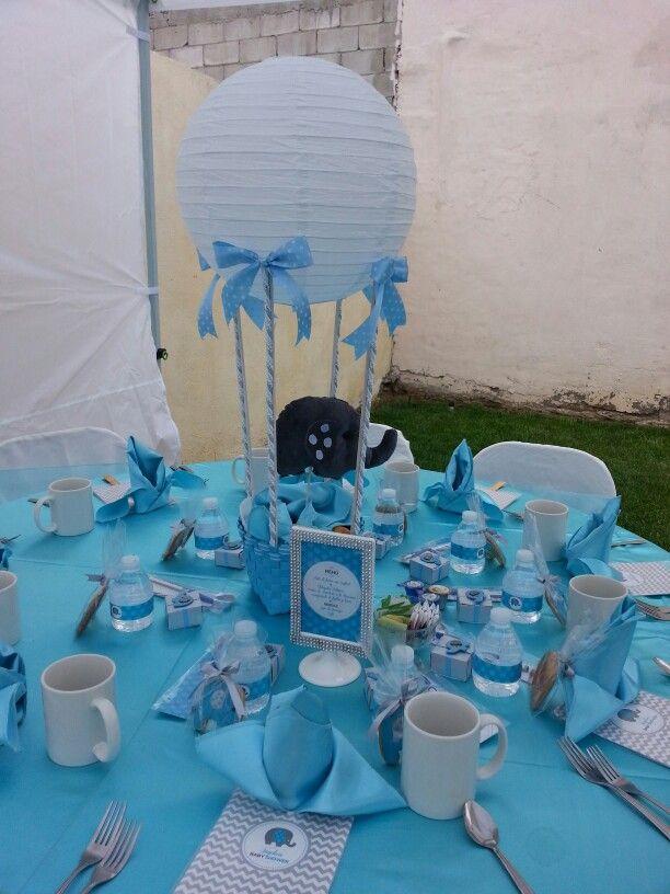 Centro de mesa elefantito baby shower  Decoracin baby