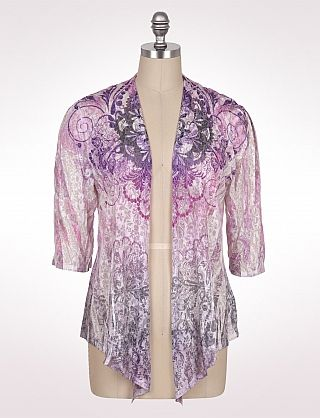 Like these types of cardigans over tees-dressbarn  $32.99