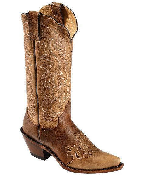 192843efd Justin Moka Damiana Wingtip Cowgirl Boots - Snip Toe | Where I Come ...