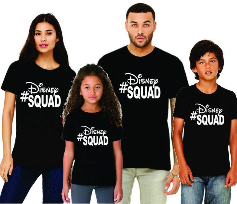 2606ac54 Family Disney Shirts - Disney Squad (Baby-Adult) Love how these can be  customized in your choice of colors!! Great for large or small groups going to  disney ...