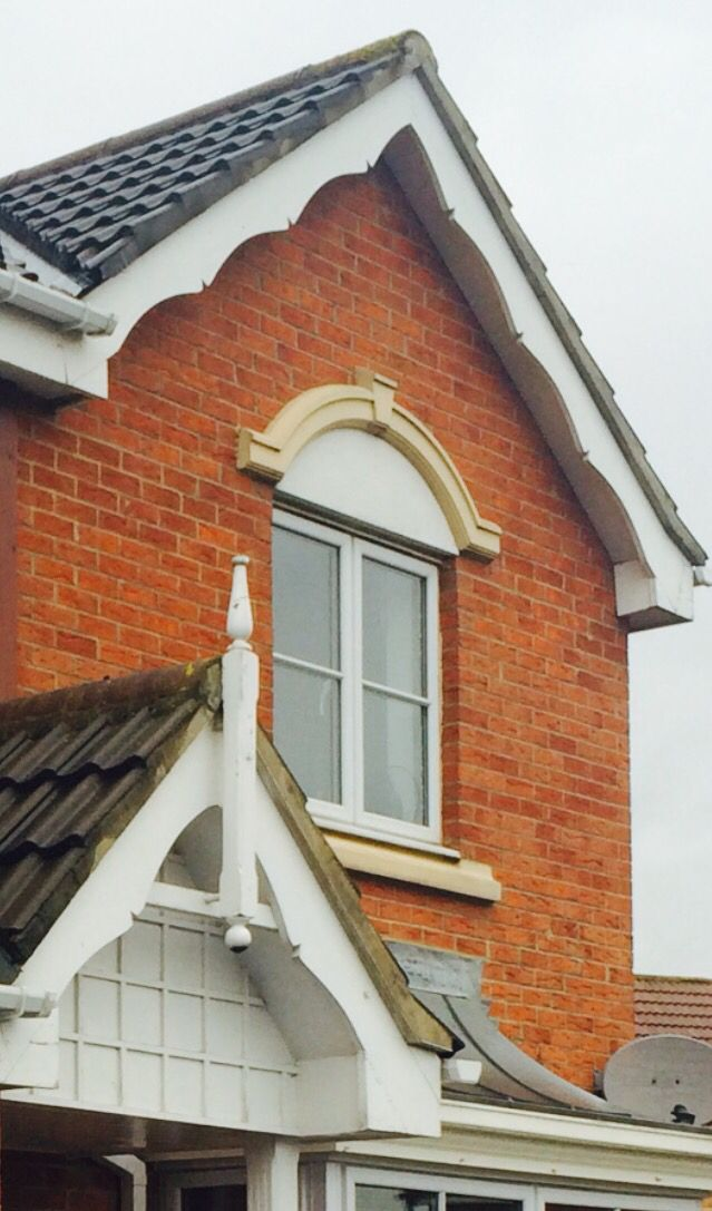Shaped English Fascia Boards And Finials For Gable End Of House Or