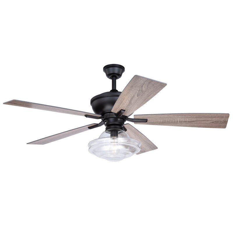 52 hirsch 5 blade ceiling fan light kit included