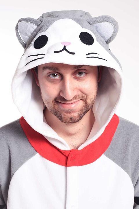 4383c825eee X-Tall) Tabby Cat Onesie Kigurumi Animal Costume Adult Pajamas ...