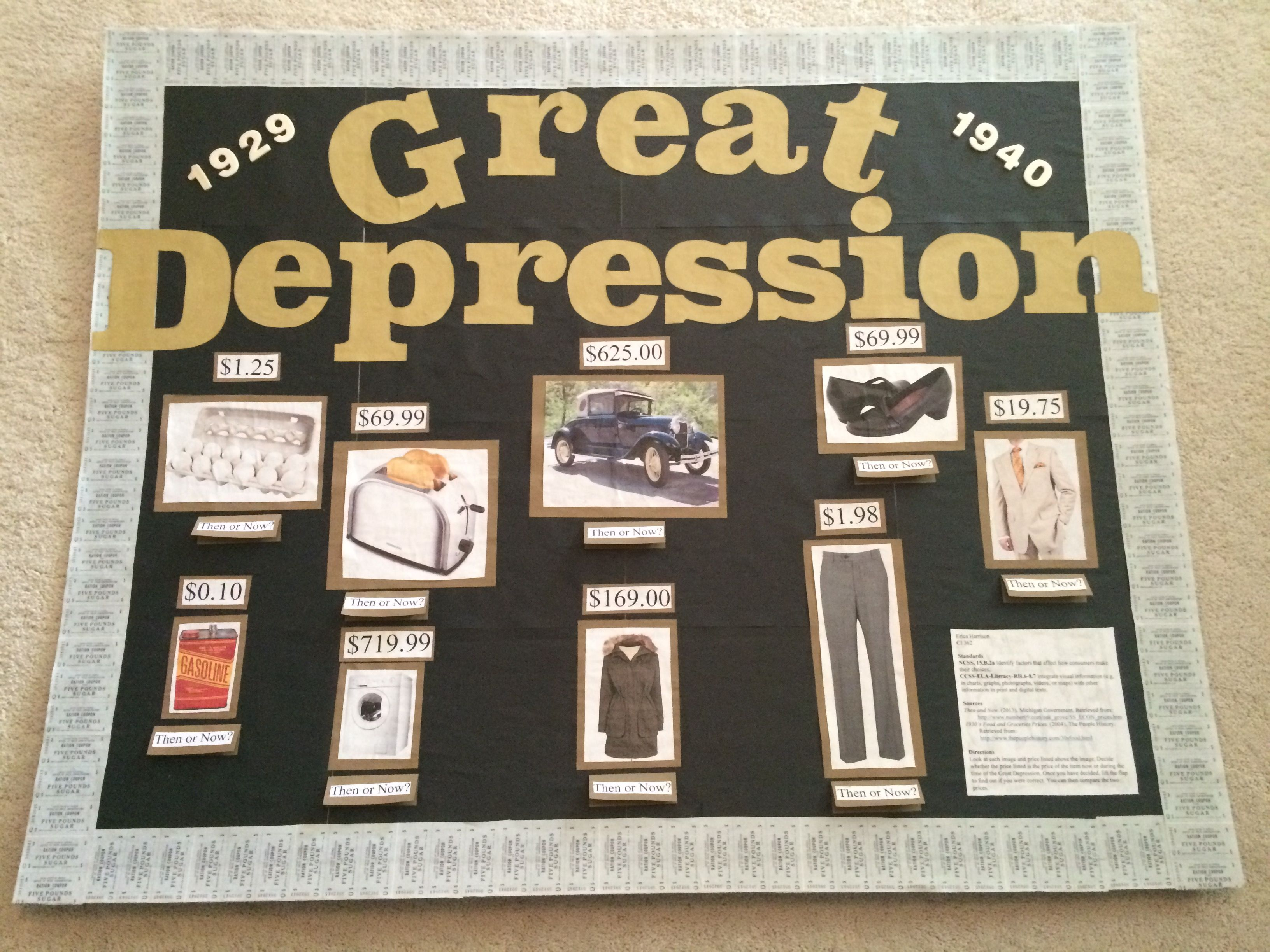 great depression poster project bie printables this bulletin board is used for teaching the great depression each image is a product
