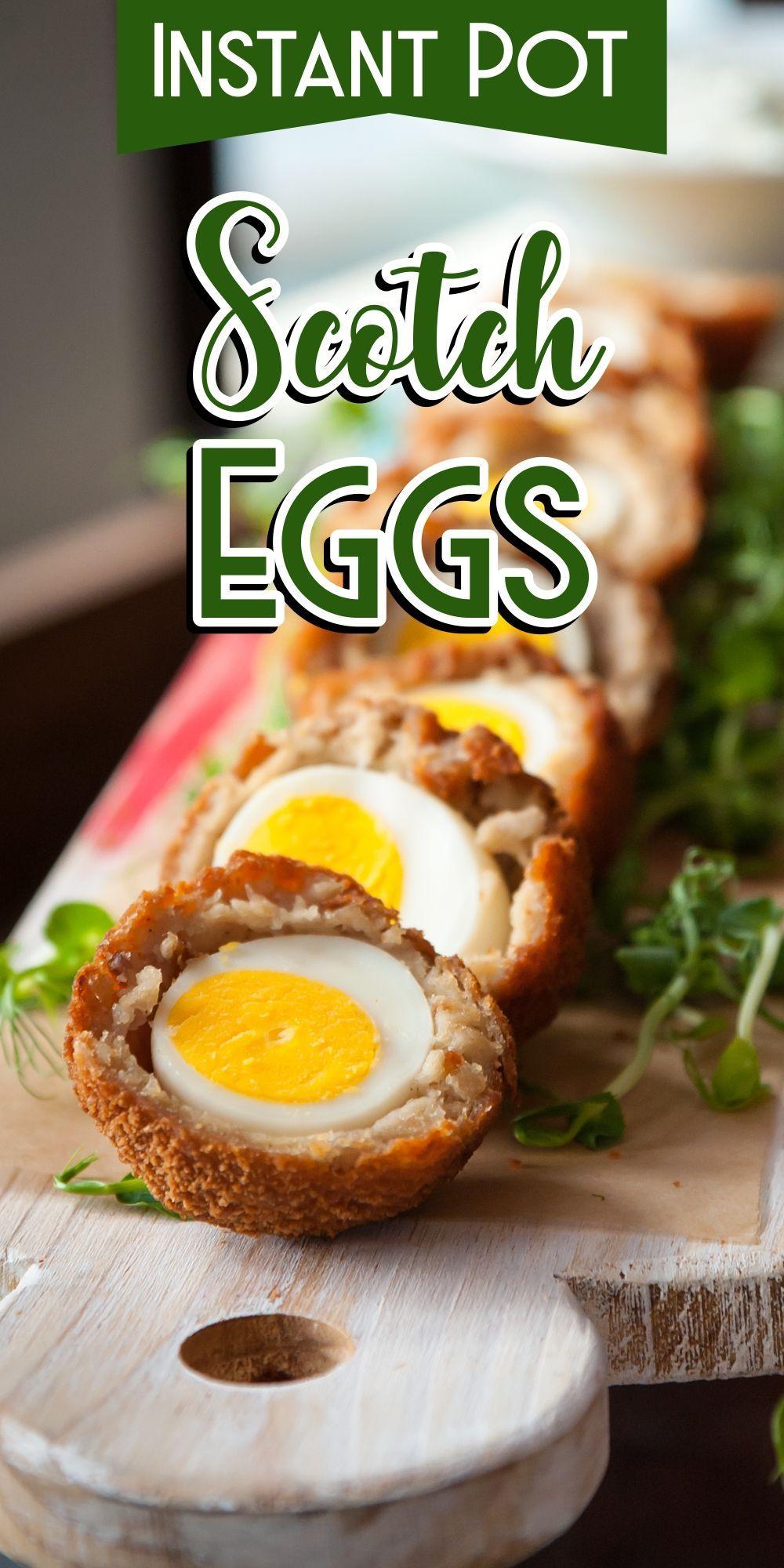 Pressure Cooker Scotch Eggs #instantpotrecipeseasy