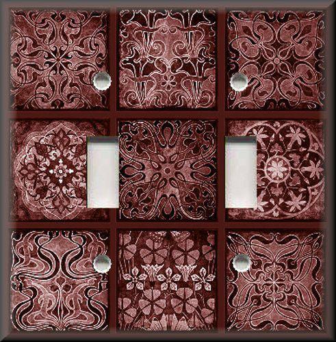 Tuscan Tile Mosaic - Wine Red