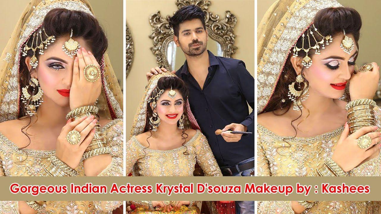 gorgeous indian actress krystal d'souza makeup and hair st