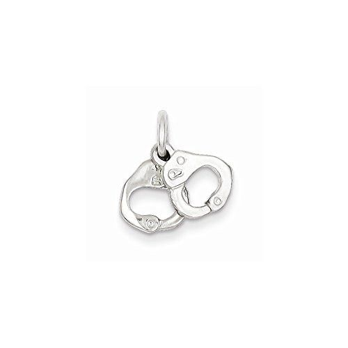 Sterling Silver Handcuffs Charm, Best Quality Free Gift Box Satisfaction Guaranteed